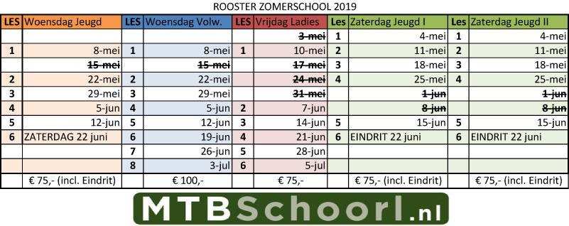 Zomerschool 2019 schema